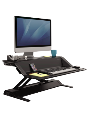 Lotus™ Sit-Stand Workstation – Black