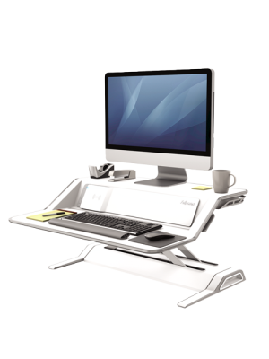 Lotus DX Sit-Stand Workstation – White